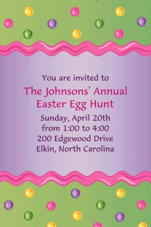 Custom Happy Easter Egg Invitations