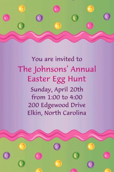 Happy Easter Egg Custom Invitation