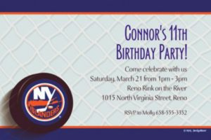Custom New York Islanders Invitations