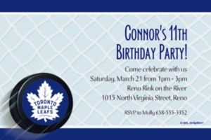 Custom Toronto Maple Leafs Invitations