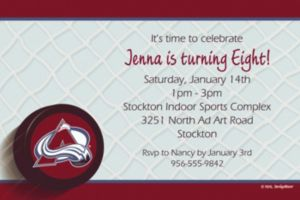 Custom Colorado Avalanche Invitations