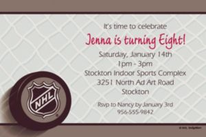 Custom Ice Time Invitations