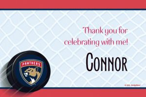 Custom Florida Panthers Thank You Notes