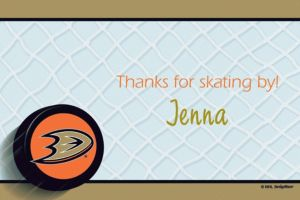 Custom Anaheim Ducks Thank You Notes