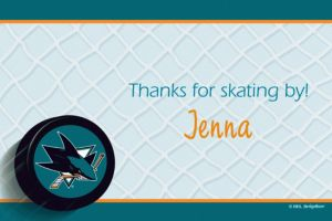 Custom San Jose Sharks Thank You Notes