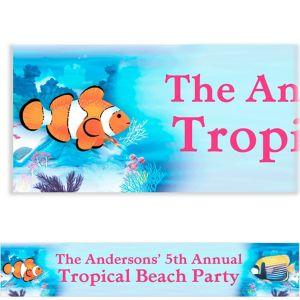 Custom Tropical Summer Banner 6ft