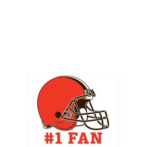 Cleveland Browns #1 Fan Decal