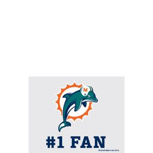 Miami Dolphins #1 Fan Decal