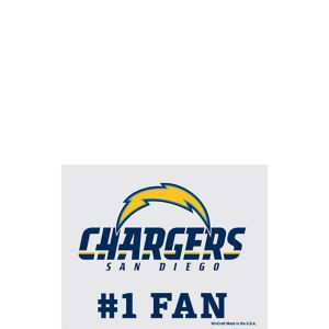 San Diego Chargers #1 Fan Decal