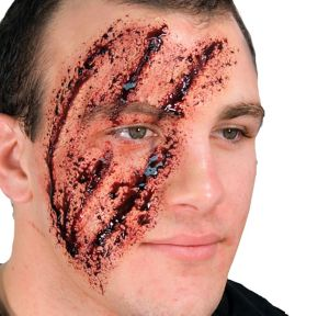 Shredded Face Prosthetic