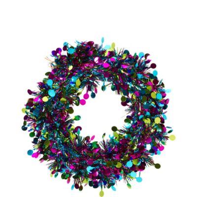 Tinsel Jewel Tone Wreath