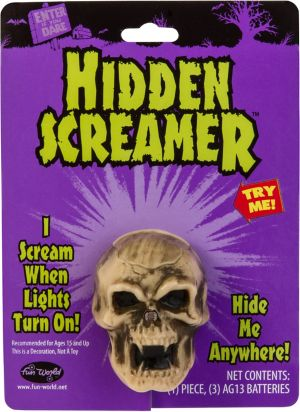 Light-Activated Hidden Screaming Skull