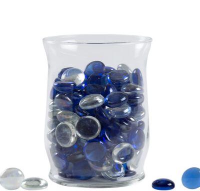 Clear and Cobalt Gem Scatter 18oz