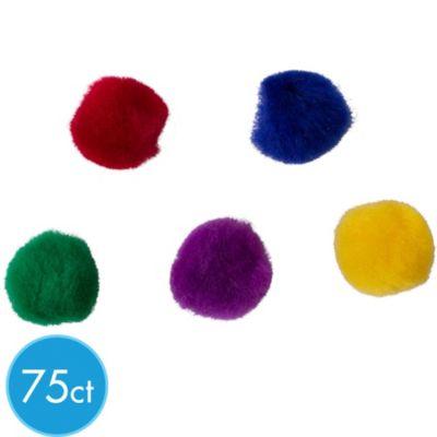 Bold Color Pom-Poms 75ct