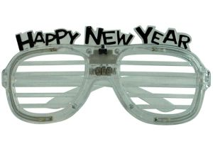 Light-Up New Year's Slotted Glasses