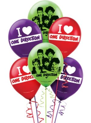 One Direction Balloons 6ct