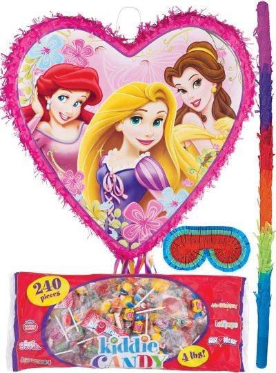 Pull String Disney Princess Heart Pinata Kit