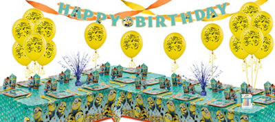 Despicable Me Party Supplies Deluxe Party Kit for 16 Guests