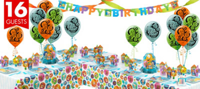 Bubble Guppies Party Supplies Deluxe Party Kit