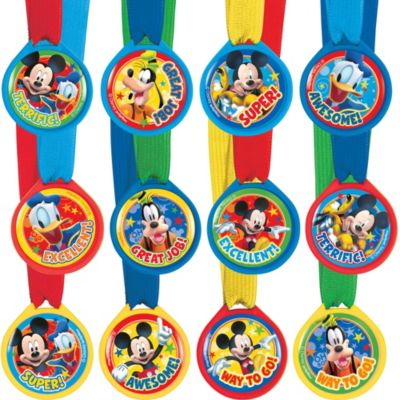 Rainbow Mickey Mouse Award Medals 12ct