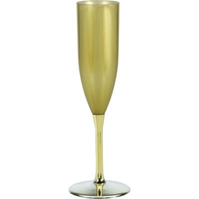 Gold Plastic Champagne Flute