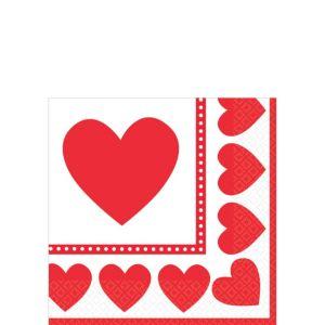Sweet Love Valentine's Day Beverage Napkins 16ct