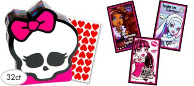 Monster High Valentine Exchange Cards 32ct