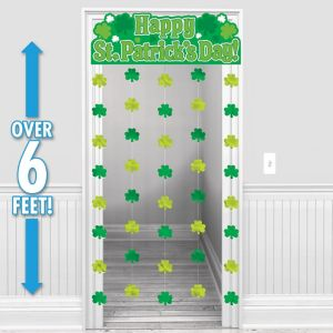 Happy St. Patrick's Day Door Curtain