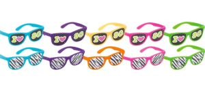 Totally 80s Printed Glasses 10ct