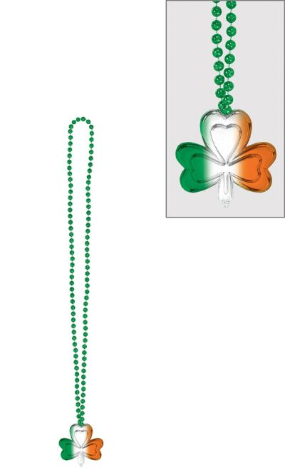 Ombre Shamrock Bead Necklace