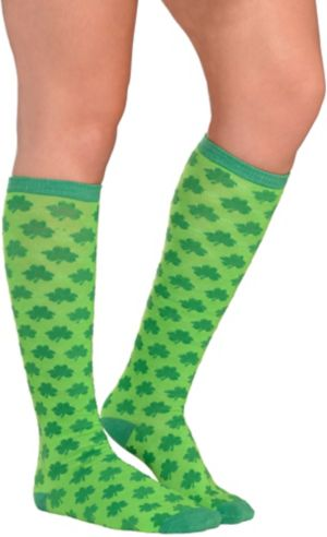 Shamrock Knee-High Socks