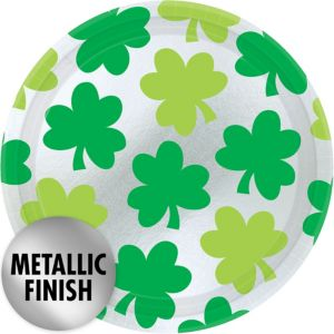 Shimmer Shamrock Lunch Plates 8ct