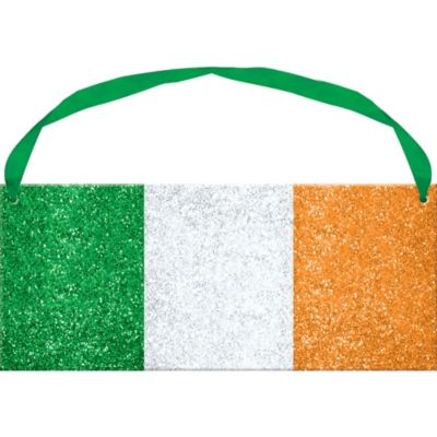 Glitter Irish Flag Sign