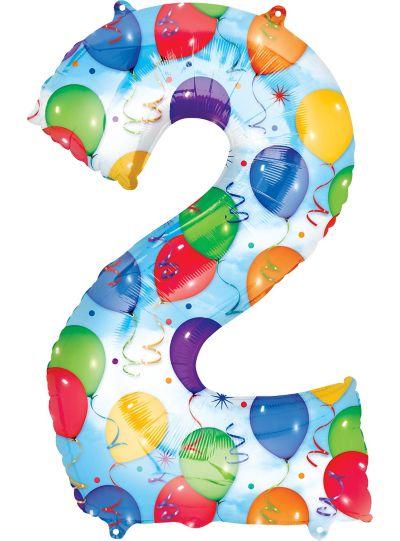 Number 2 Balloon - Celebration
