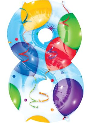 Number 8 Balloon - Celebration