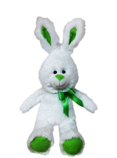 Kiwi Bow Easter Bunny Plush