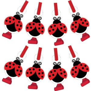 Fancy Ladybug Blowouts 8ct