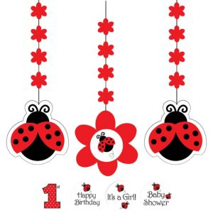 Fancy Ladybug String Decorations 3ct