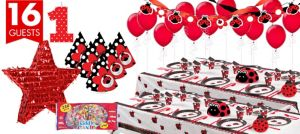 Ladybug Fancy 1st Birthday Party Supplies Ultimate Party Kit