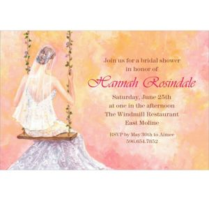 Custom Bridal Swing Bridal Shower Invitations