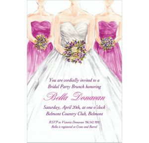 Custom Bridesmaids Bridal Shower Invitations