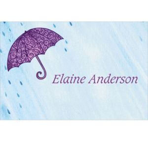 Custom Filigree Umbrella Bridal Shower Thank You Notes