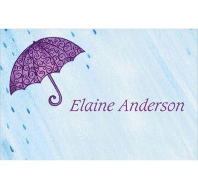 Filigree Umbrella Custom Bridal Shower Thank You Note
