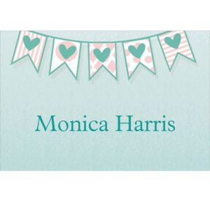Custom Bride to Be Flags Bridal Shower Thank You Notes
