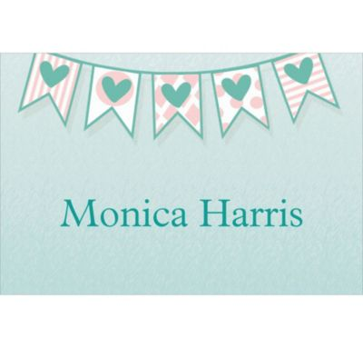 Bride to Be Flags Custom Bridal Shower Thank You Note