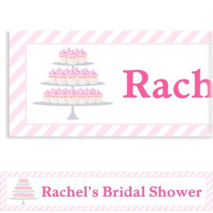 Custom Cake of Cupcakes Bridal Shower Banner 6ft