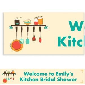 Custom Kitchen Shower Bridal Shower Banner 6ft