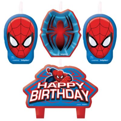 Spider-Man Birthday Candles 4ct