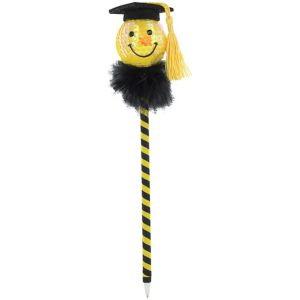 Sequin Smiley Graduation Pen
