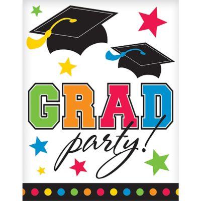 Rainbow Graduation Invitations 50ct